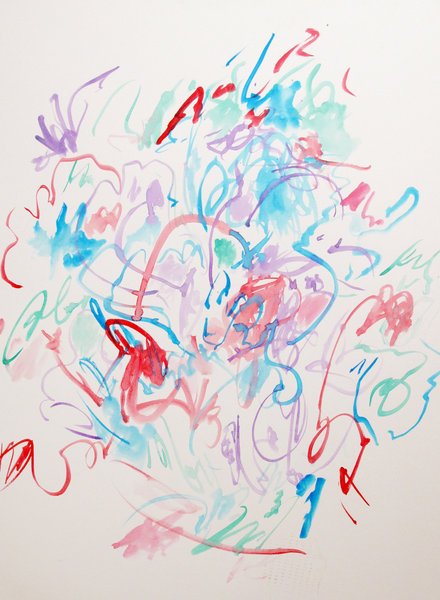 Beyond the Vanishing Point - Paintings and Drawings 2010-2012 - RUSHING_BY